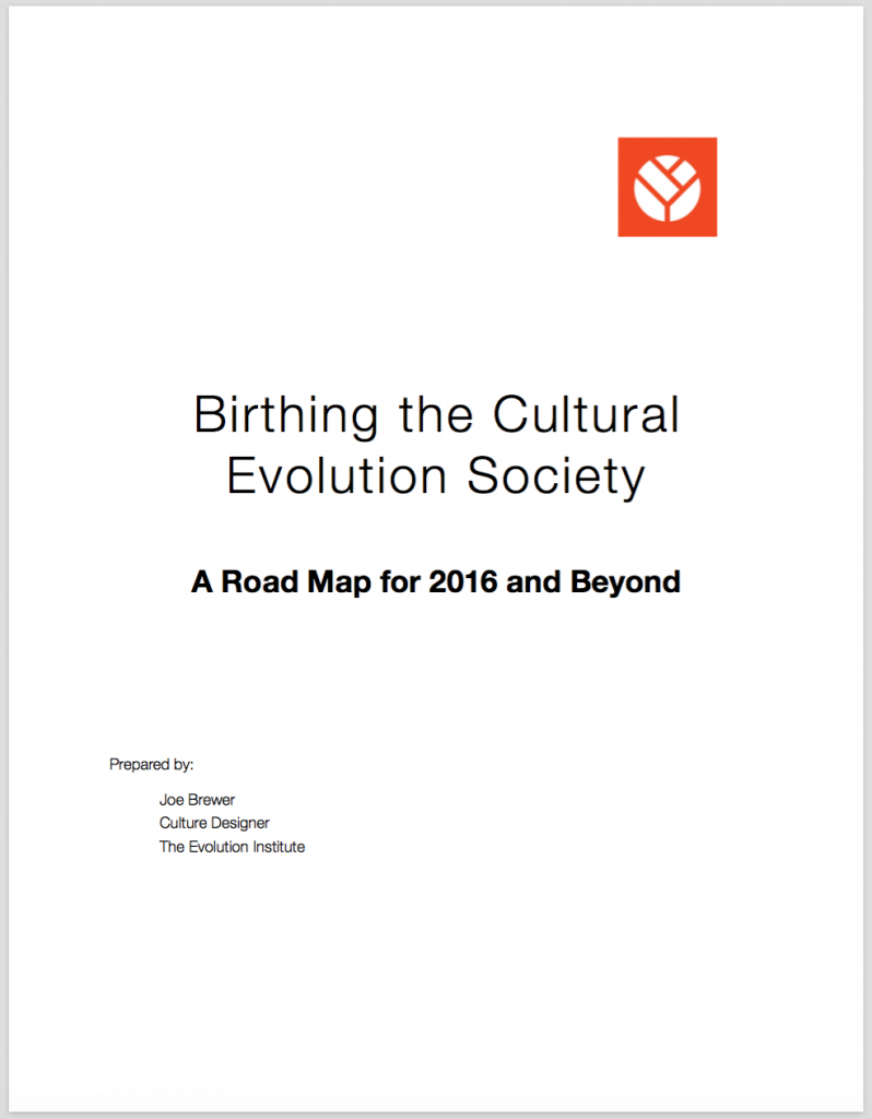 Birthing Cultural Evolution Society